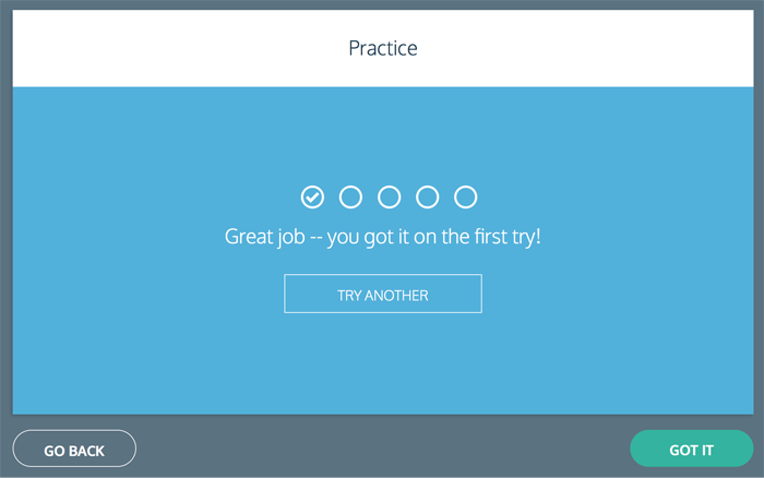 Codecademy quiz result